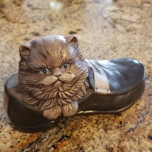 Kitty Cat in Shoe Figurine